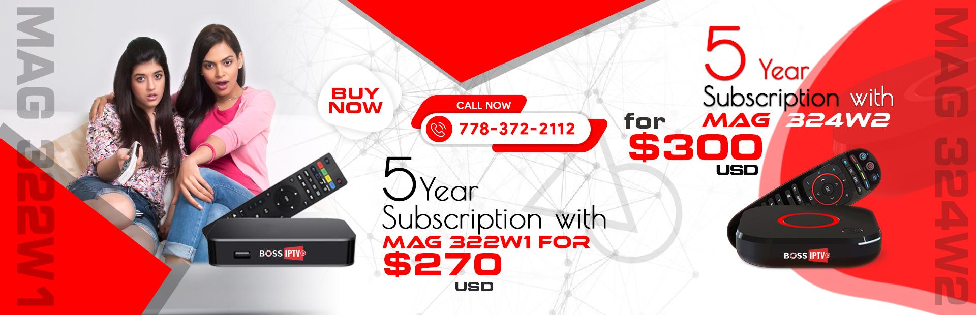 Mag 322w1 iptv box, Mag 324w2 iptv box